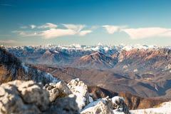 Italienska berg i vintern Royaltyfria Foton