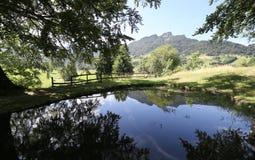 Italienska berg med den bästa kallade SPITZEN av Tonezza med Royaltyfria Bilder