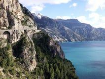 Italienska berg och Positano Royaltyfria Foton