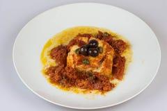Italienska codfish som isoleras på en vit bakgrund Fotografering för Bildbyråer