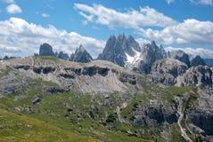 italienska dolomites Arkivbilder
