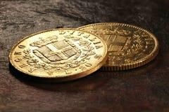 Italienska guld- mynt Royaltyfri Bild
