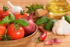 italienska ingredienser Royaltyfria Foton