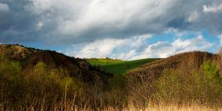 italienska kullar Arkivfoton