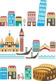 Italienska landmarks Arkivfoton
