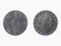 50 italienska liras Arkivfoton