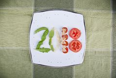2018 italienska mat Arkivbild
