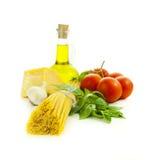 italienska matlagningingredienser Arkivfoton