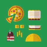 italienska matlagningmatingredienser Arkivfoto