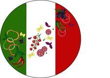 italienska matlagningmatingredienser royaltyfri illustrationer
