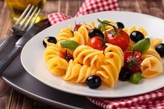 italienska matlagningmatingredienser Pasta Fotografering för Bildbyråer