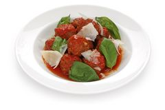 italienska meatballs Royaltyfri Foto