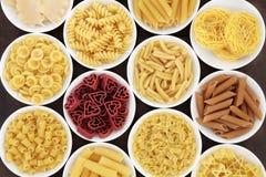 Italienska pastaformer Royaltyfri Bild