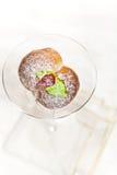 Italienska persikakakor Royaltyfria Bilder