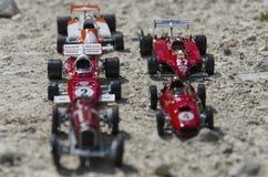 Italienska racerbilar på solen Fotografering för Bildbyråer