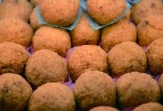 Italienska risbollar från Sicilien Arkivbilder