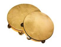 italienska tamburinar Fotografering för Bildbyråer