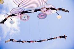 Italienskt akrobatiskt lag i Sibiu Rumänien arkivfoton