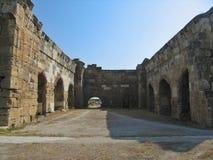Italienskt arkeologiskt museum i Heropolis arkivbilder