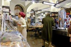 Italienskt bageri arkivfoton