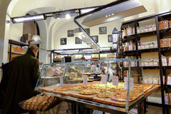 Italienskt bageri arkivbilder