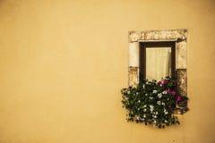 italienskt fönster Royaltyfria Bilder