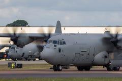 Italienskt flygplan MM62185 för flygvapenAeronautica Militare Italiana Lockheed Martin C-130J Hercules militärt last Royaltyfri Foto