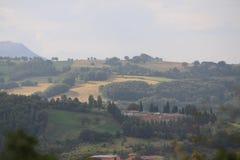 Italienskt landskap - Umbria Arkivfoton
