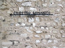 Italienskt medeltida tecken Arkivbild