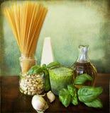 italienskt nudelpestorecept Arkivfoton