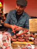 italienskt sälja för salami Royaltyfri Fotografi