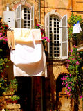 italienskt tvätteri Royaltyfri Fotografi
