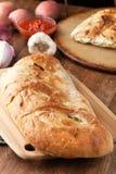 Italienskt välfyllt bröd Arkivfoto