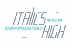Italiques hauts Photographie stock libre de droits