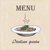 Itallian pasta 2 Arkivfoton