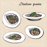 Itallian pasta 1 Arkivfoto
