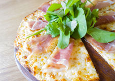 Itallian pizza parma ham Stock Image
