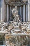 Italty, Roma Detalle de la fuente del Trevi imágenes de archivo libres de regalías