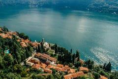 Italy科莫湖寄生虫空气寄生虫夏天照片 免版税库存图片
