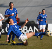 Italy - Áustria, futebol fêmea U19; fósforo amigável Imagens de Stock Royalty Free