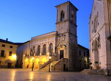 Italy – Norcia - The church of St. Benedict or San Benedetto. Italy - Norcia - The Benedictine Monks of Norcia (Italian: Monastero di San Benedetto di Norcia) Royalty Free Stock Images