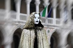 Italy – Venezia - Carnival  - Eerie mask Royalty Free Stock Images