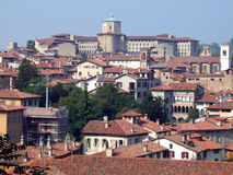Italy. Roofs of the buildings in the city centre of Bergamo Royalty Free Stock Photos