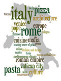 Italy. Overview of relevant and touristic topics about Italy Royalty Free Stock Photography