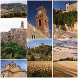 Italy. Composite image of nature and culture in Italy (Tuscany and Umbria regions Royalty Free Stock Image