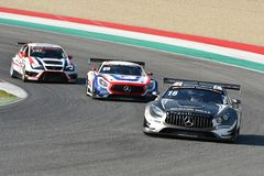 Italy - 29 March, 2019: Mercedes AMG GT3 of SPS Automotive Performance Team
