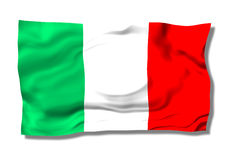 Italy. An green white red flag on the wind Royalty Free Stock Images