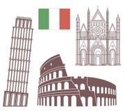 italy royaltyfri illustrationer