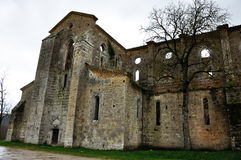 Italy abbey ruins 1. San Galgano abbey, external view Stock Photo