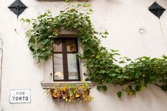 Italy; abruzzo; building window Stock Photography